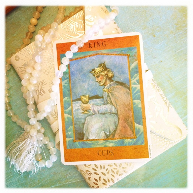 King of Cups the gift of listening - what you give and what you receive