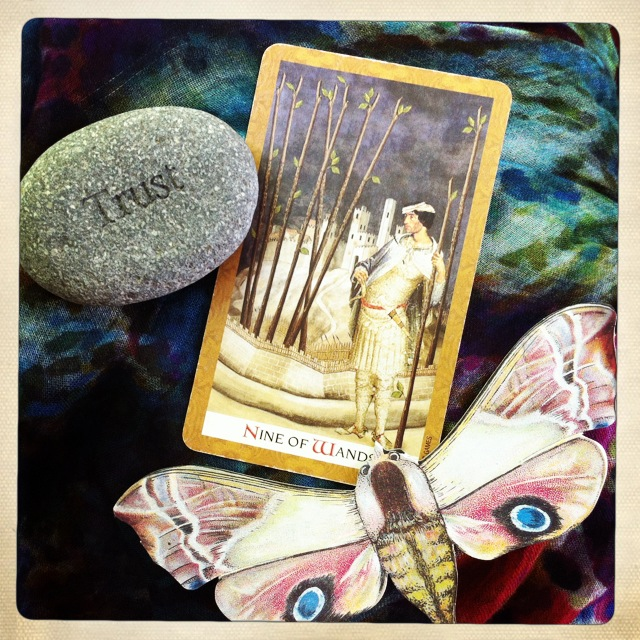 9 of Wands from the Golden Tarot - Keep Going... You're Almost There! - Jennifer Currie