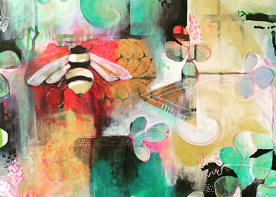 My Cup is Full Painting with Bee