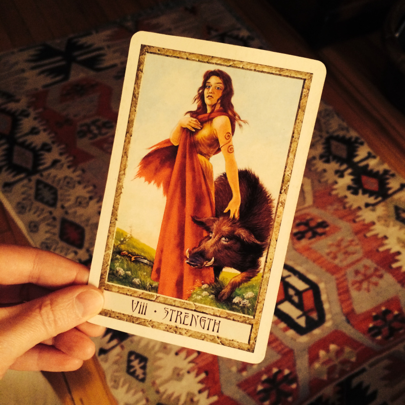True Strength and the Power of Your Inner Wildness - Jennifer Currie - Druid cract tarot strength