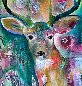 Deer detail Jennifer Currie