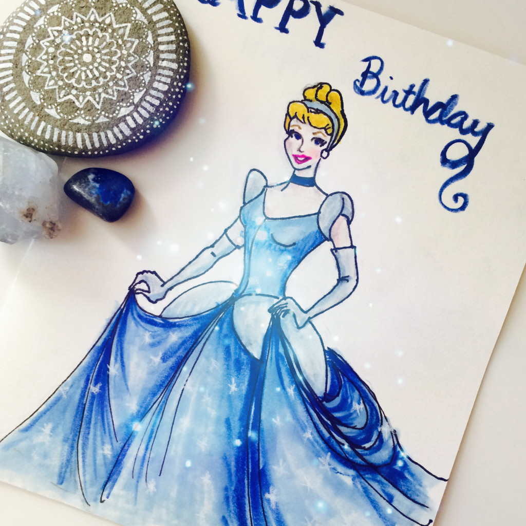 Cinderella drawing by Isabel Currie