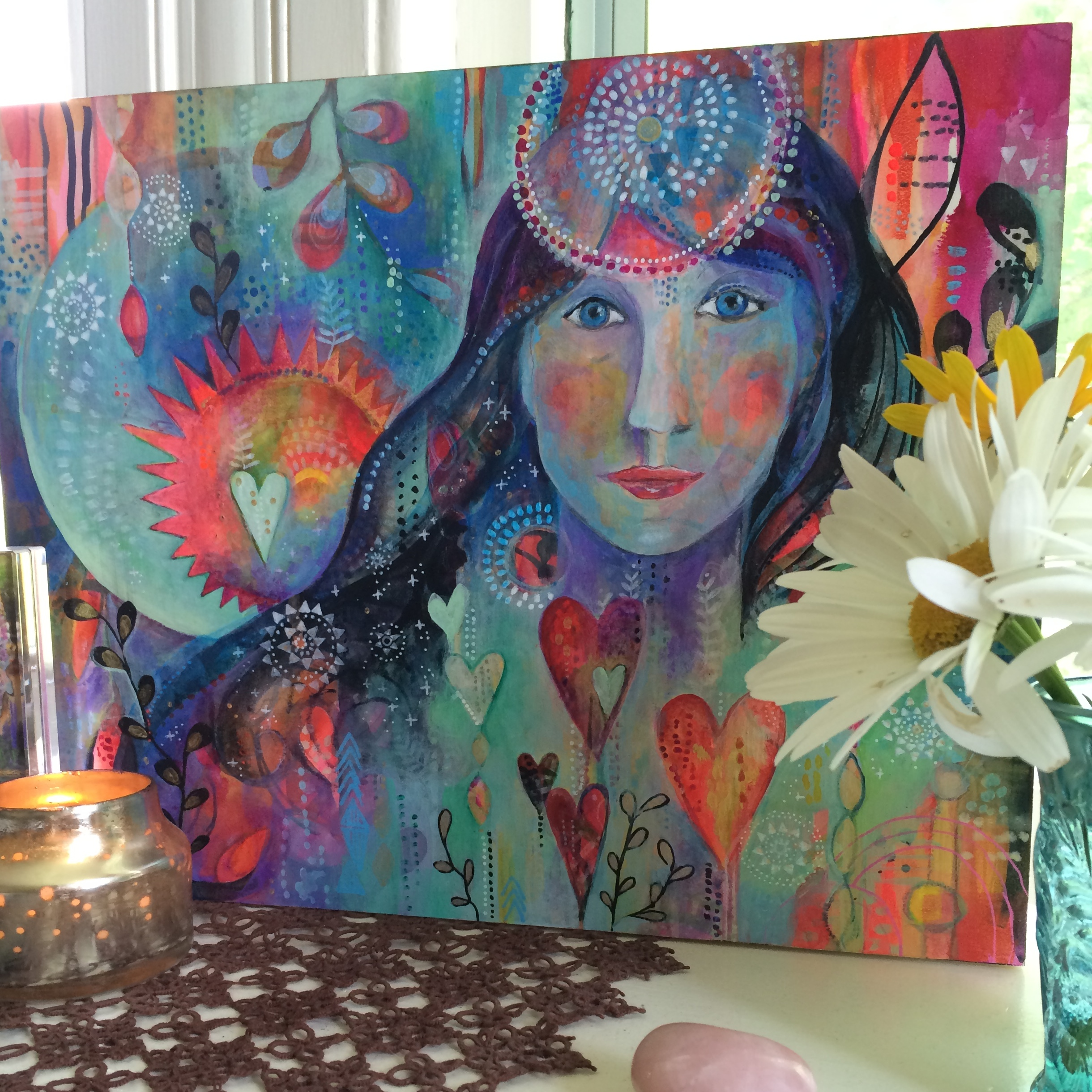 Soul Painting on altar