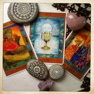 Cards from the Goddess Tarot