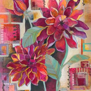 Dahlia Print by Jennifer Currie