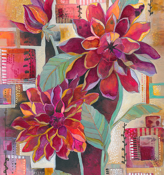 Dahlia Print by Jennifer Currie