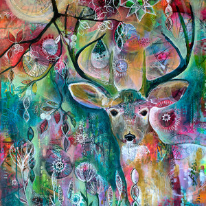 Deer at Twilight Jennifer Currie