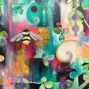 Good Fortune Bee Print by Jennifer Currie