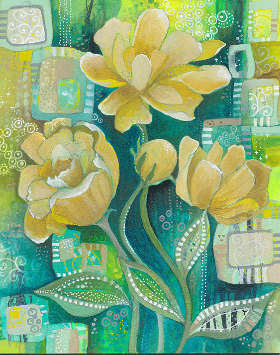 Yellow Blooms Jennifer Currie