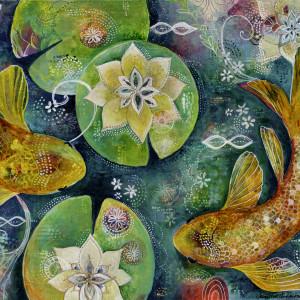 Koi Pond Print, by Jennifer Currie