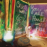 Altar setting with message: You are Power-Full