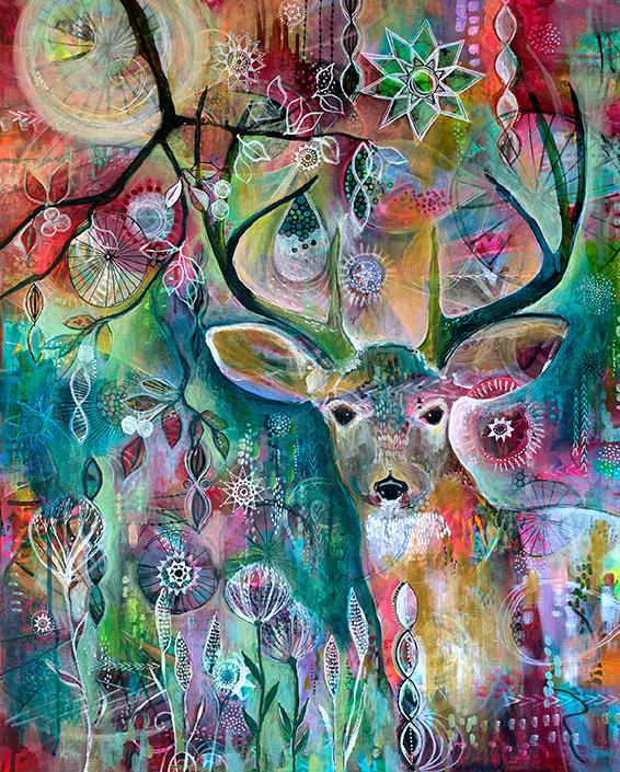 Deer at Twilight Jennifer Currie