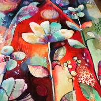 """original painting detail by Jennifer Currie """"Home"""""""
